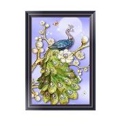 Susada DIY Peacock Pearl 5D Diamond Embroidery Painting Rhinestone Cross Stitch Decor