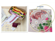 Kosause 10cm Round Embroidery Hoop Bulk Wholesale 12 Pieces Bamboo Circle Cross Stitch Hoop Ring