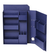 Nakabayashi Lifestyle tool accessories storage box file A4 navy LST-FA4NV