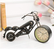 European style of the ancient village study clock iron motorcycle decorative clock sit