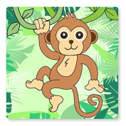 CHEEKY MONKEY UK LIGHT SWITCH STICKERS, CHILDS BEDROOM NURSERY DECORATING