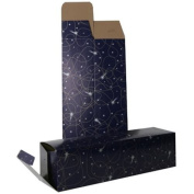 JAM Paper Wine Boxes - 8.3cm x 8.3cm x 34cm - Purple Shooting Star - Sold individually