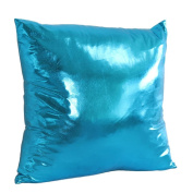 NXDA Pillow Case,Gold Stamping Spandex Imitation PU Throw Pillows Cover for Home Car Bed Decorative 46cm x 46cm
