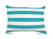 Stratford Home 12x20 Indoor / Outdoor Decorative Lumbar Pillows, Classic Stripe Turquoise