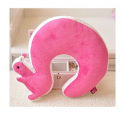 Yingwei Squirrel Animal Cotton Plush U Shape Neck Pillow for Travel
