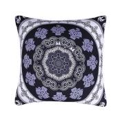Sleepwish Mandala Pillow Cover, Bohemian Geometric Floral Mandala Pattern Mandala Pattern Throw Pillow, Black and White Pillow Covers 46cm x 46cm