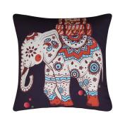 Sleepwish Elephant Pillow Cases Generic Bright Colour Flower Elephant Pillow Cover Mandala Pillow Case Sofa Waist Throw Cushion Cover Home Decor 46cm x 46cm