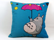 Thick Cotton Linen Totoro Cartoon Decorative Pillow Case Sofa Throw Cushion Cover 46cm X 46cm