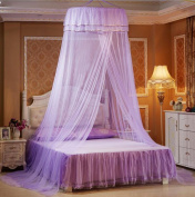 Nattey Princess Lace Bedding Round Mosquito Net Canopy Bites Protect For Twin Queen King Size Canopies