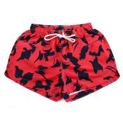 Woman Adjustable Summer Beach Swim Board Shorts Swimsuit Swimwear Trunks US 4