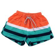 Lady Summer Water Sports Stripes Pattern Sea Beach Shorts Swim Trunks M