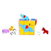 Fat Brain Toys Six-in-One Animal Friends Cube Puzzle