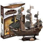 Bamwoo Story Pirates of the Caribbean Queen Revenge DIY Assembled Ship Model 3D Wooden Puzzle Toys