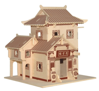 New Assembly DIY Education Toy 3D Wooden Model Puzzles Of Southern Style House