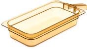 Carlisle 30860H13 StorPlus High Heat Food Pan With 1 Handle, 6.4cm Deep, Third Size, Amber