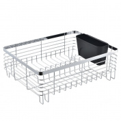 Best Commercial Steel Rust Proof Kitchen In Sink Side Draining Dish Drying Rack, Chrome Dish Rack