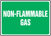 Sign Non-Flammable Gas 7X10 Alum