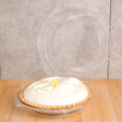 25cm Round Clear Plastic Hinged Pie Container