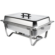Chafer Single Tray 7.6l. Set Commercial Stainless Steel Full Size Food Warmer Buffet