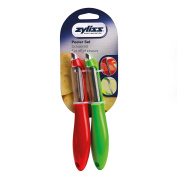 Zyliss 2 Piece Peeler Set, Peel Fruits and Vegetables with Comfy Ergonomic Grip - Red/Green