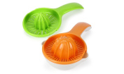 Urban Trend Tango Citrus Juicer - Two Interchangeable Juicing Heads Optimally Designed to Squeeze Oranges, Grapefruits, Lemons and Limes - Ergonomic Handle and a Non-Slip Base for Increased Leverage