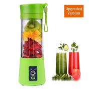 Juice Blender Portable Juicer Cup Mini Fruit Mixing Machine USB Rechargeable 380ml Updated Version Six Blades in 3D for Superb mixing