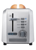 Chefman Stainless Steel 2-Slice Wide Slot Toaster w/ Bagel, Defrost, and 5 Shade Settings Quickly Toasts Muffins, Bagels, Bread and More - Stainless Steel - RJ31-SS-AM