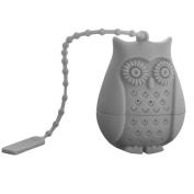 Gloryhonor Cartoon Owl Silicone Loose Tea Infuser Filter Strainer Novelty Perforated Gift - Grey