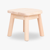 ZEMIN Stool Solid Wooden for Children Cartoon Dining Living Room Study Furniture, Wood Colour