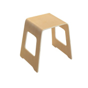 ZEMIN Creative Solid Wooden Small Square Stool Household Simple Piano Living Room Study Furniture, Wood Colour