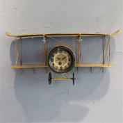 TRRE@ Antique aircraft bell shelves Interior Industrial Wall Shelf Decoration 68*32cm Shelf Accessories