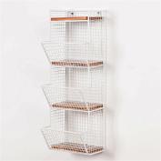 TRRE@ European-style wrought iron wall rack 4 layers magazine rack books, newspapers rack publicity creative shelving racks hanging,20*17*58cm Shelf Accessories