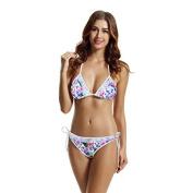 zeraca Women's Plus Size Lace Triangle Bikini Swimsuit