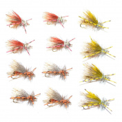 Trout Fly Assortment Crystal Stimulators and Royal Stimulator Rubber Legs Trout Dry Fly 12 Flies Trout Fly Collection