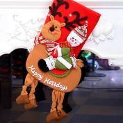 Christmas Socks Decorations Gift Bag,Christmas Tree Hanging Ornaments ,Tuscom