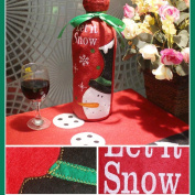Christmas Wine Bottle Cover Bags, Decoration Home Party Santa Claus ,Tuscom