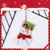 Snowman Elk Christmas Gift Bag, Xmas Decoration Ornament Sock Decors,Tuscom