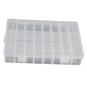 WeiMay 24 Compartment Plastic Adjustable Storage Box Organiser for Jewellery Tool Container