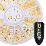 CoulorButtons 1 Sheet Gold Rivet Nail Studs Mixed Pattern DIY Phone 3D Nail Decoration