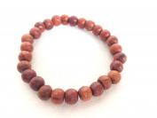 Audomna Shop Thai Mens Womens Wood Bracelet, 10mm Tibetan Beads Buddhist Prayer Dark Brown