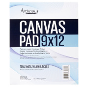 Artlicious - 9x12 Canvas Pads, 10 Sheets, 100% Duck Canvas, Triple Primed, Alternative to Stretched Canvas, Panels or Boards
