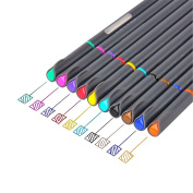Zhi Jin 10Colors Art Coloured Pens Extra Fine Point Drawing 0.38mm Colouring Pens Painting Assorted Colours Gift Set