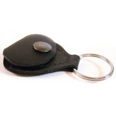 Perri's Leathers Leather Guitar Pick Holder/Key Chain, Black