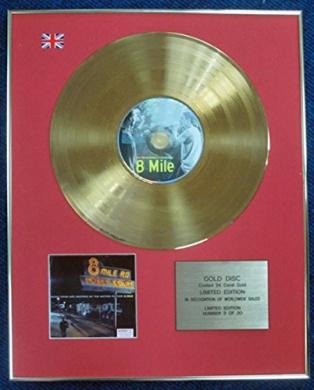 Eminem- Limited Edition CD 24 Carat Gold Coated LP Disc - 8 Mile