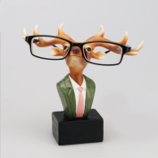 SHENCHI Eyeglasses Holder Reading Spectacles Resin Display Stand Novelty Deer Doctor Home Ornament Crafts Christmas Birthday Gifts,6.3*14cm