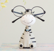SHENCHI Eyeglasses Holder Reading Spectacles Resin Display Stand Cute Animal Deer Zebra Shape Home Ornament Crafts Christmas Birthday Gifts,5.7*7.1cm