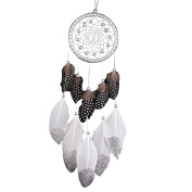 Indian Dreamcatcher Feather Silver Bead Hanging Decoration