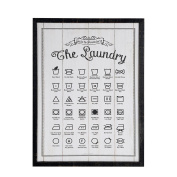 NIKKY HOME Deorative Wooden Framed Hanging Wall Plaque/Sign for Laundry Room