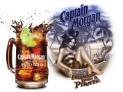 CAPTAIN MORGAN EVRYBODY LOVES A PIRATE RETRO METAL TIN WALL PLAQUE/SIGN NOVELTY GIFT BAR PUB MAN CAVE