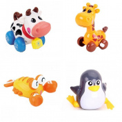 HLJgift 4pcs/Lot Wind Up Toy Wind-Up Animal for Baby, Toddler and Kids